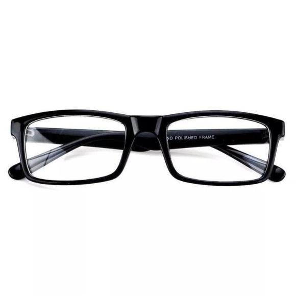 f46c83253d8 Black Frame Glasses Fashion Rectangle Fake Nerd